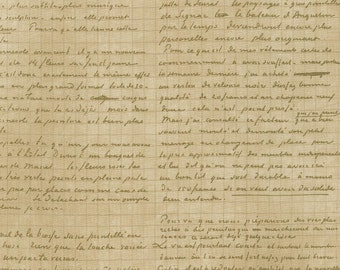Parchment script fabric from the Vincent Van Gogh 2 Collection by Robert Kaufman