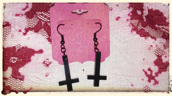 Black Faith Earrings