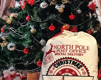 Personalized NorthPole Post Office, Canvas Santa Sack, santa sack, personalized, christmas bag, santa bag, canvas bag, canvas