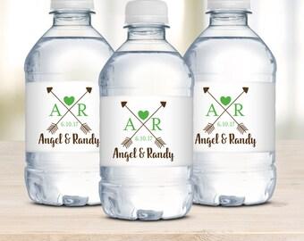 Wedding Water Bottle Labels, Waterproof Labels, Wedding Welcome Bags, Rustic Arrows, Destination Weddings, Wedding Favors, Rustic Wedding