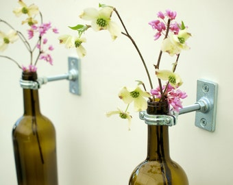 3 - Hardware Only - Wine Bottle Wall Flower Vases