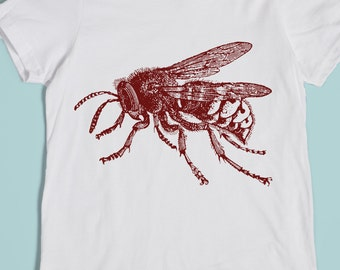 Kids' Bee Shirt - Bumblebee Shirt - Kids' Bug Tshirt - Children's Clothing - Insect Screen Printed Shirt