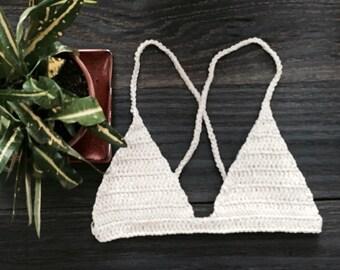 Gaia Crochet Bralette Bikini Top
