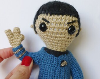 Spock, an Amigurumi Doll inspired by Leoarnard Nimoy's Spock from Star Trek