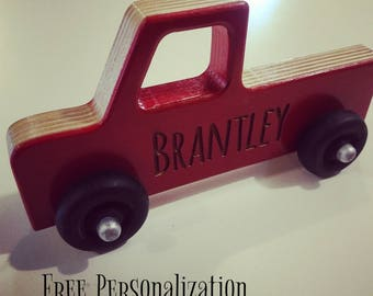 Personalized wood toy truck, toy truck wood toy, wooden toys, boy gift, girl gift, toy car, Christmas gift,personalized wood car,