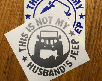 Not My Husband's Jeep