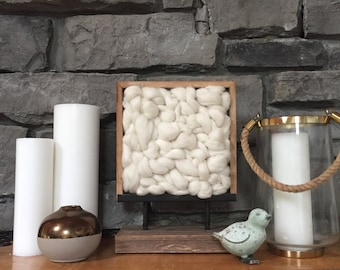 Rustic Tabletop Weaving in White - Made to Order