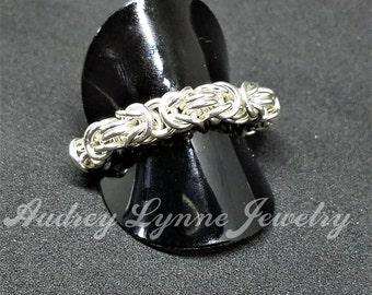 Sterling Silver Byzantine Weave Ring