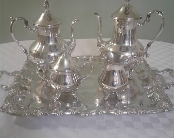 Antique 5 Piece Sheridan Taunton Silver Plated Coffee/Tea Set