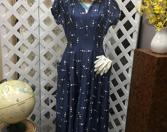 "Vintage Women's Dress from 1950""s"