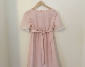 Pink Gingham Vintage Syle Dress - Size S/M
