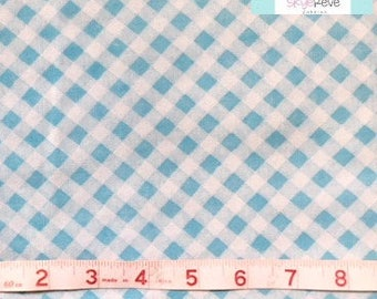 Twin Vintage Fitted Sheet with Blue Gingham