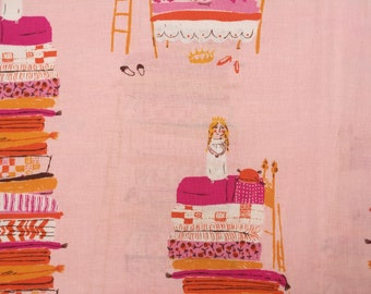 Heather Ross Far Far Away Princess and the Pea pink FQ or more OOP HTF