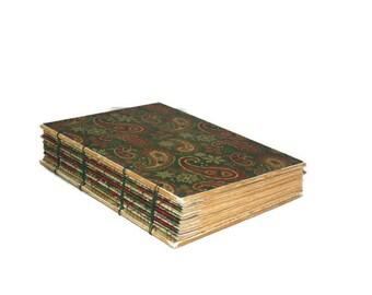 Christmas Paisley Journal - Guest Book, Memory Album Log, Scrapbook, Travel Journal