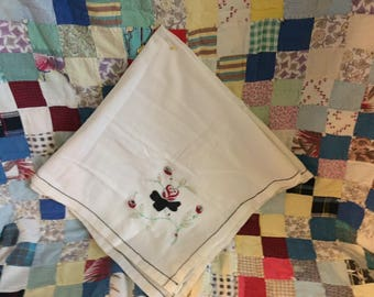 Vintage Needlework Tablecloth