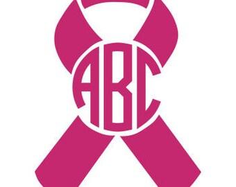 Monogram Cancer Survivor Decal