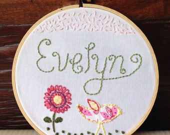 Bird Seed . Custom Embroidery Hoop