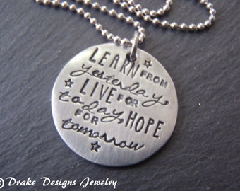 inspirational quote jewelry inspirational necklace graduation gift