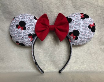 Mouse Heads & Bows Ears
