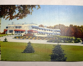 Vintage 1930's Postcard Northernaire Hotel & Spa Three Lakes Wisconsin