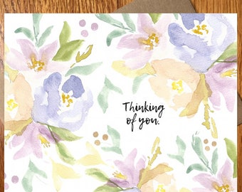 Blessings Note Card / Every Day Spirit / Pink Blessings Card / Floral Card / Thinking of You Card / Get Well Note Card / Thank You Note Card