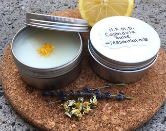 Hand foot mouth disease soothing natural calendula salve with essential oils