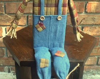 Primitive Scarecrow Doll/Shelf Sitter