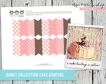 Donut Shop Collection Cake Bunting - decorate a cake or use for decor