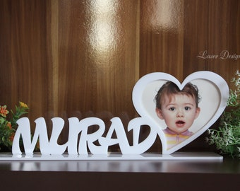 Personalised Photo Frame - Name Photo Frame - Acrylic laser cut frame