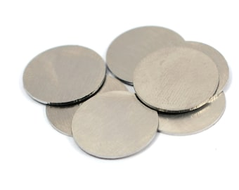 """10 Pcs.  Stainless Steel  16 mm (5/8"""" )   Stamping Blanks No Hole 20 Gauge ,0.8 mm Thick"""