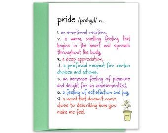 Pride Encouragement Card | Congratulations Card | Encouragement Card | Congratulations Card | Encouragement | Support Card