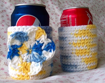 Sunkissed Crocheted Can Cozy Set