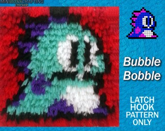 Bubble Bobble Pattern - PDF and Image Instructions in 3 sizes