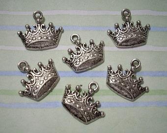 10 Royal Crown Charms 13mm x 19mm
