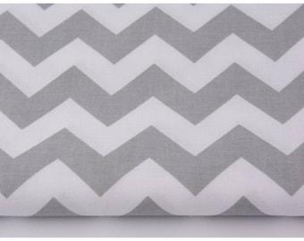 100% cotton fabric piece 160 x 50 cm, textile printing, 100% cotton light grey chevron zig zag Chevron