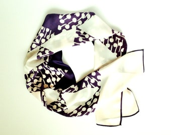 Vintage 1970's Bold Graphic Silky Acetate Rectangular Scarf