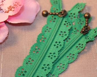 Zipper lace Green 20 cm not separable x 1