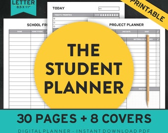 2018 2019 Academic Planner, Assignment Planner, College Planner, High School Planner, School Planner, Student Planner, Study Planner,