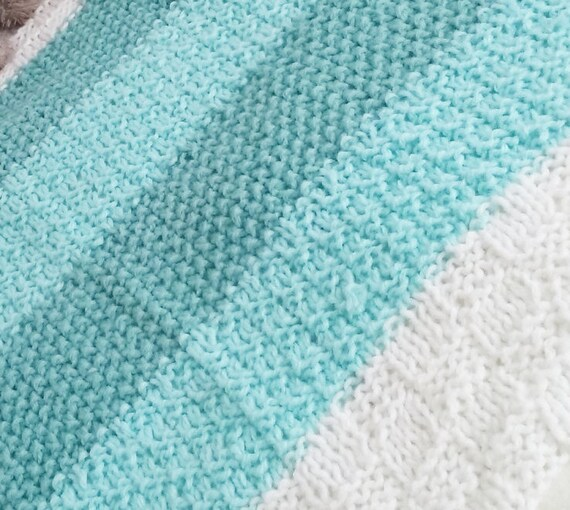 124 PDF Knitting Pattern / Easy Baby Blanket Knitting Pattern, knit ...