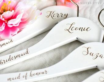 Bridesmaid Proposal Hangers, Bridesmaid Gift, Engagement Gift, Bridal Shower Gift, Bridal Hanger, Bridal Party Hanger,Bride Hanger H04