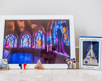 """Print 20 x 30 """"stained glass Castle"""""""