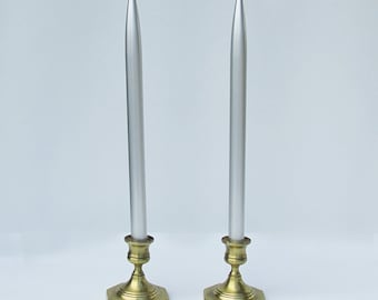 "A Pair of Vintage Aluminum ""Lifetime Candles"" - Never Been Used"