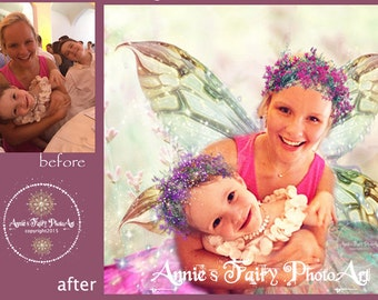 Two Person Custom Fairy Portrait from YOUR photo