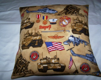 United States Marines Toss Pillow Cover