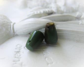 Turquoise Teardrop Pair Natural Green Turquoise Briolette Earring Pair Item No.  9936