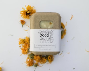 Calendula soap, artisan soap, all Natural Soap Handmade, Eczema soap, Unscented Soap, Vegan Soap, sensitive skin soap