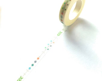 Skinny Washi Tape Leafs / Dots