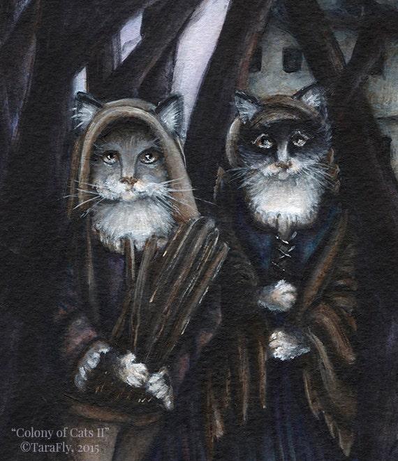 Colony of Cats II 5x7 Fine Art Print