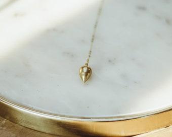 Pendulum Necklace, Brass, Handmade