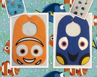 Nemo Fish and Dory Fish Baby Bib